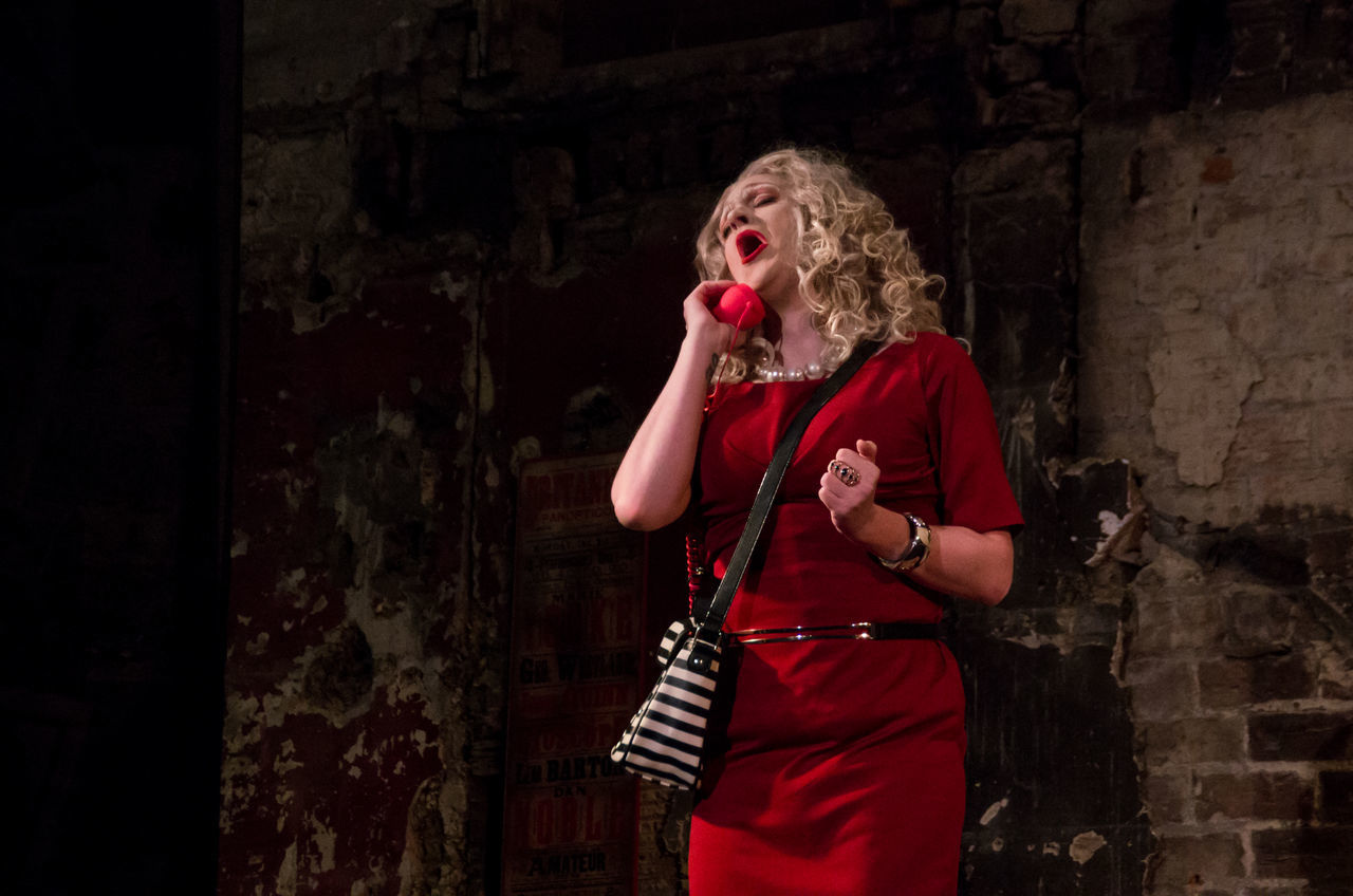Final Variete of 2016 at the Panopticon. Burlesque Cabaret Drag Drag Queen Glasgow  People PhonePhotography Portrait Red Dress Scotland Variety