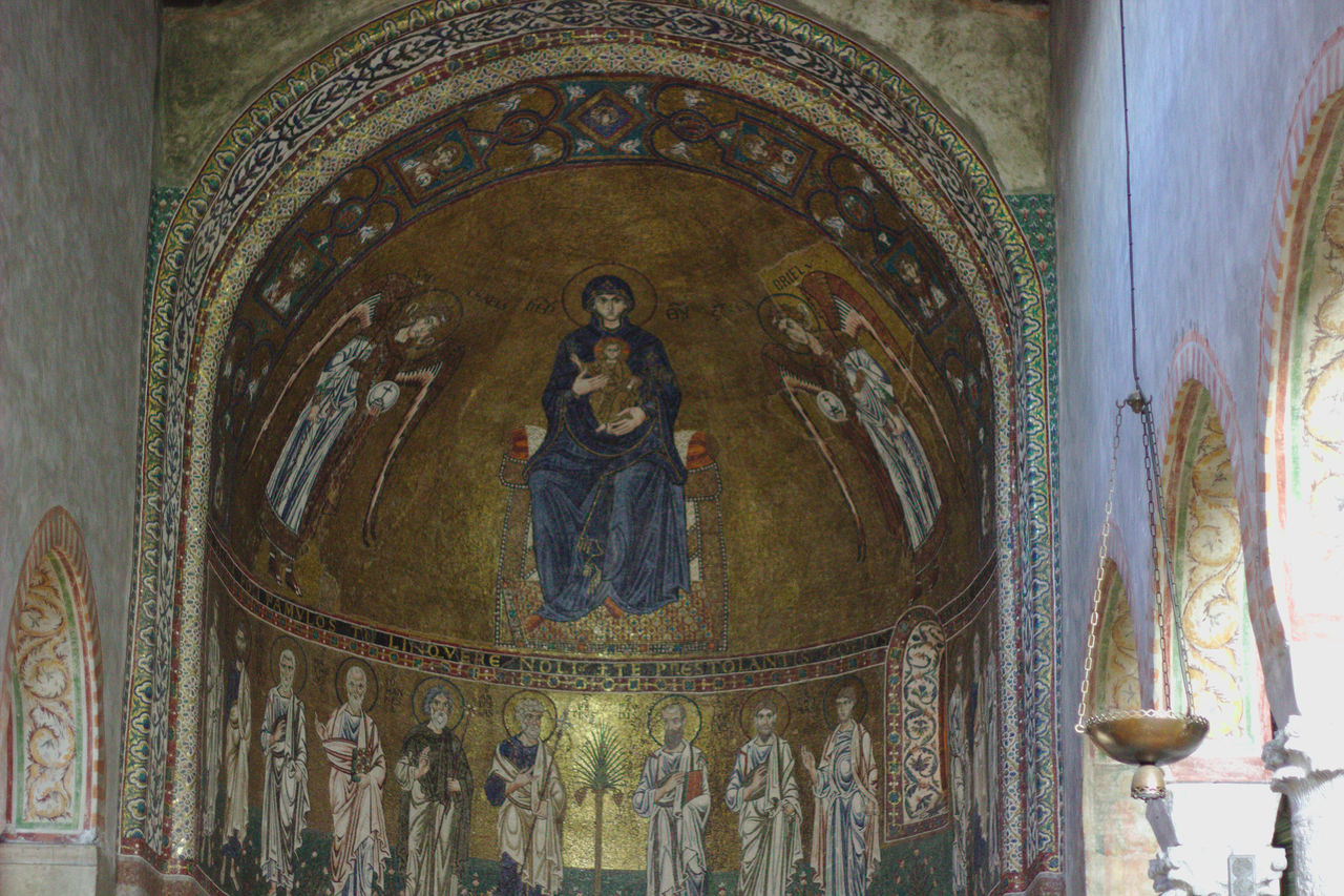 Cathedral of San Giusto, Trieste Arch Architecture Architecture_collection Art Art And Craft Cathedral Ceiling Church Church Column Creativity Design Duomo Indoors  Madonna Ornate Place Of Worship Religion Sacred Art Sacred Place Sacred Places Spirituality Trieste Trieste,Italy'
