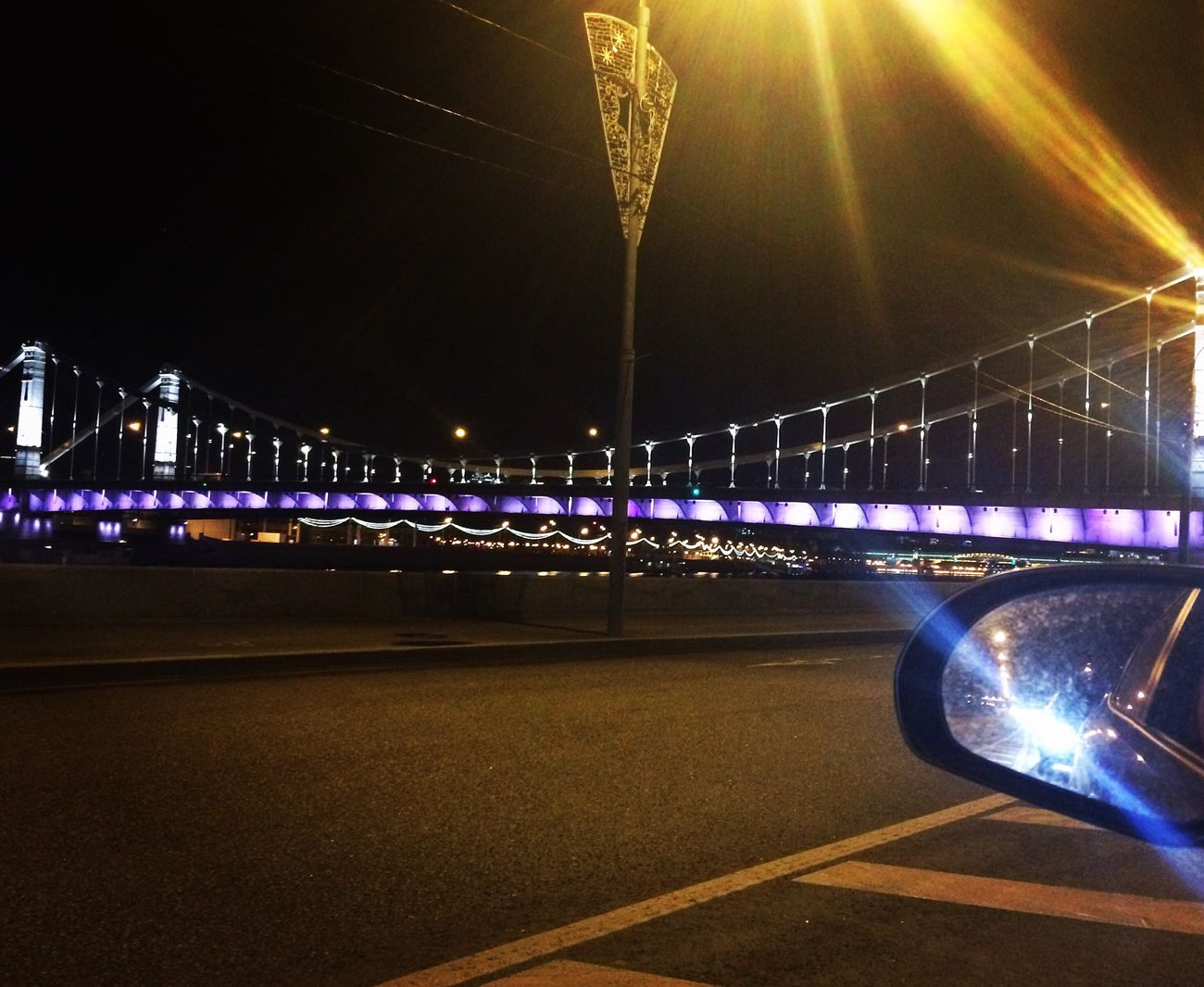 Bridge - Man Made Structure Night Transportation Street Light Bridge Road City No People City Life Beatiful Happy Time Myeyes Woman