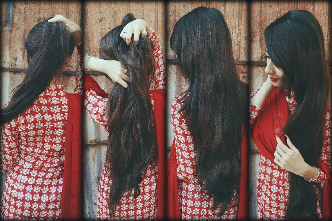 my long hair Natural Beauty Long Hair Fashion Only Women Red Glamour Nodyes HealthyHair