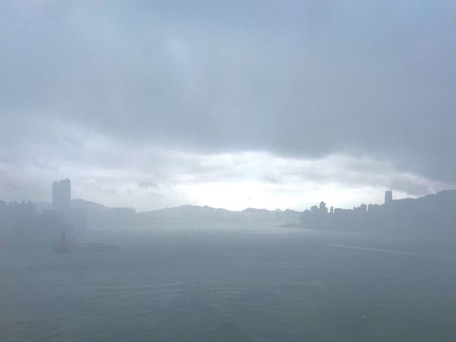 Hong Kong Skyline Clouds And Sky Cityscapes Rainstorm During The Rainstorm Hong Kong Harbour Eye4photography  IPhoneography Street Photographer-2016 Eyem Awards Victoria Harbour Light And Shadow After The Typhoon Sun And Shadow Cloud And Sky Cloudy Sky Heavy Rain