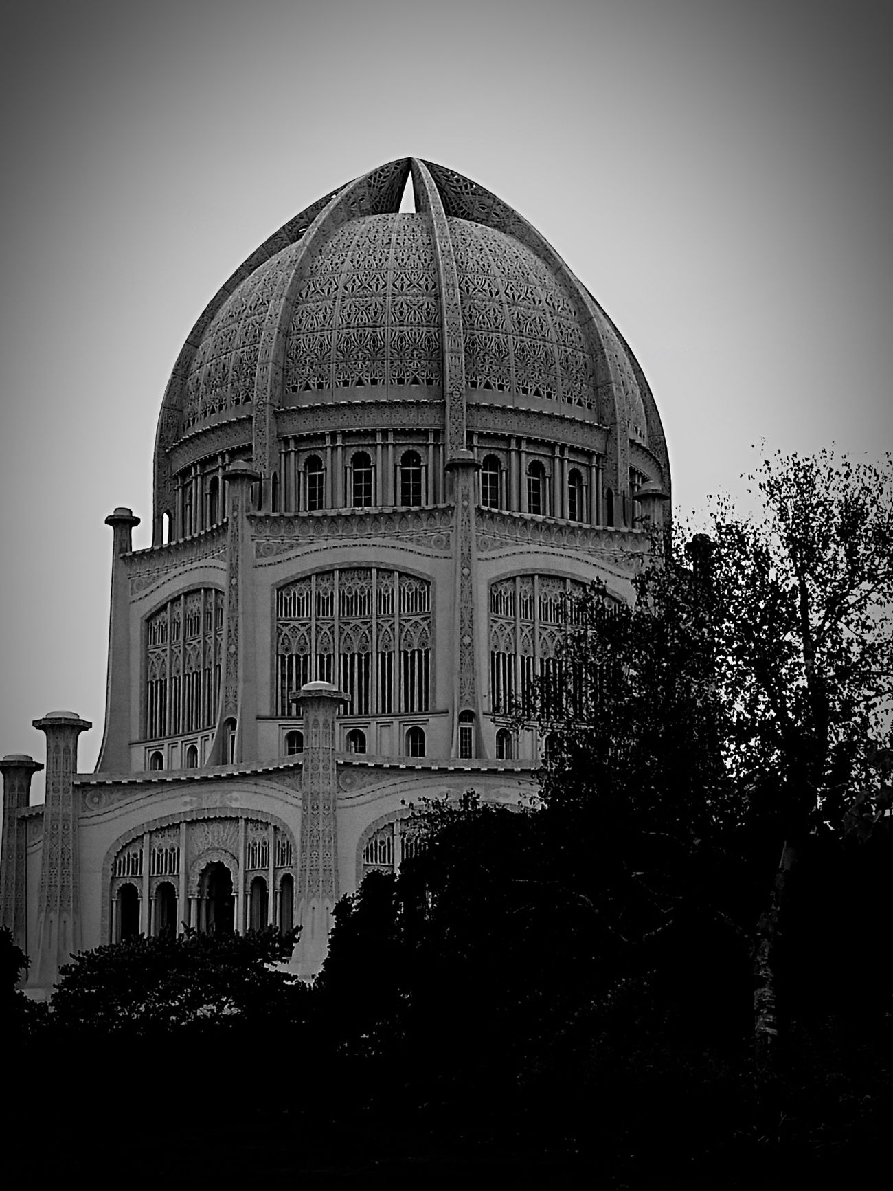 Bahai Temple Chicago Church Peace Beautiful
