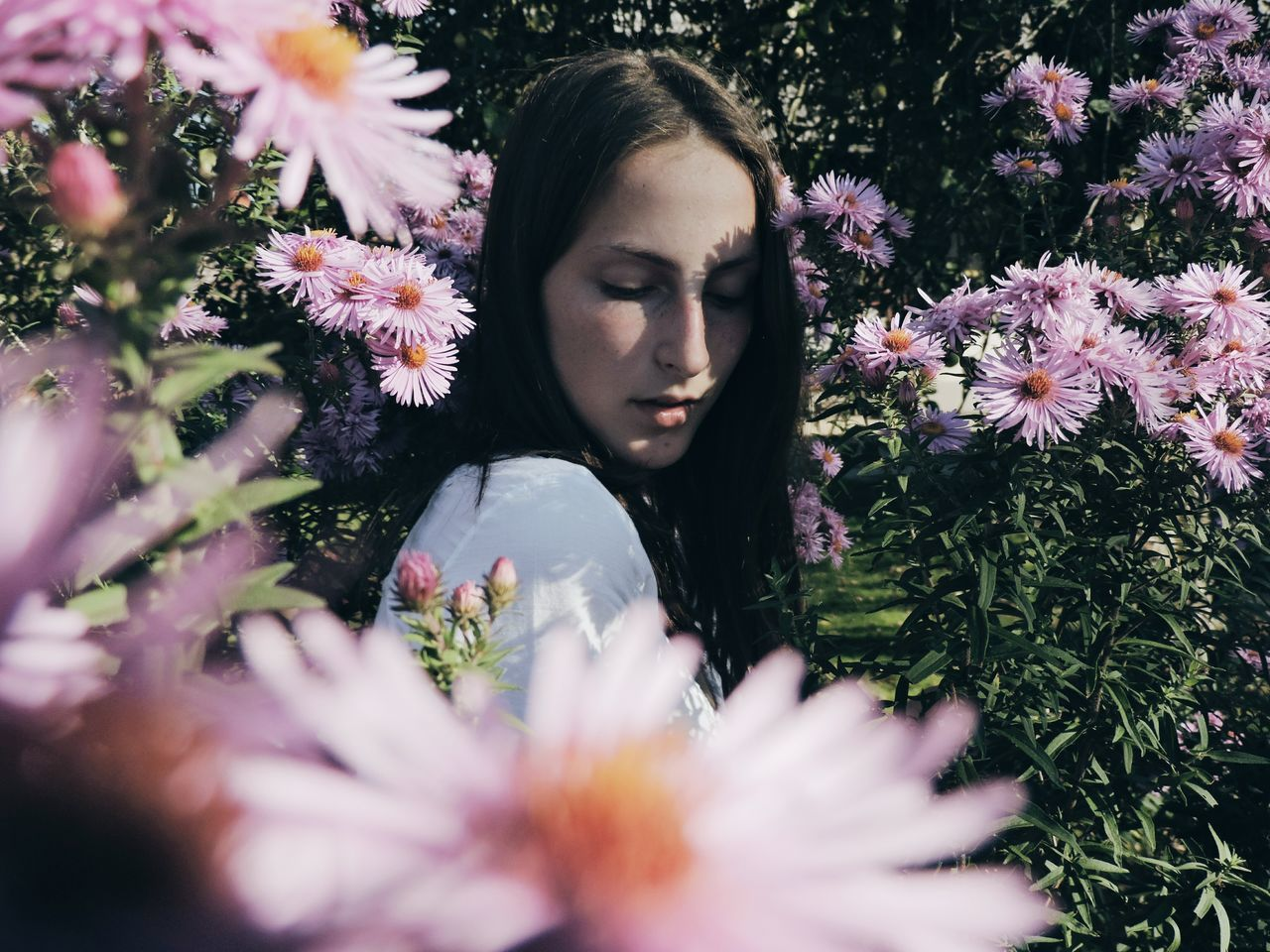 Flower Young Adult Plant Portrait One Young Woman Only Tree Nature Young Women Beauty One Person Only Women Women Day Dreaming Beautiful Woman Beauty In Nature Epic Shot Photography Epic First Eyeem Photo Close-up Day Outdoors Sky Canon Nikon Place Of Heart