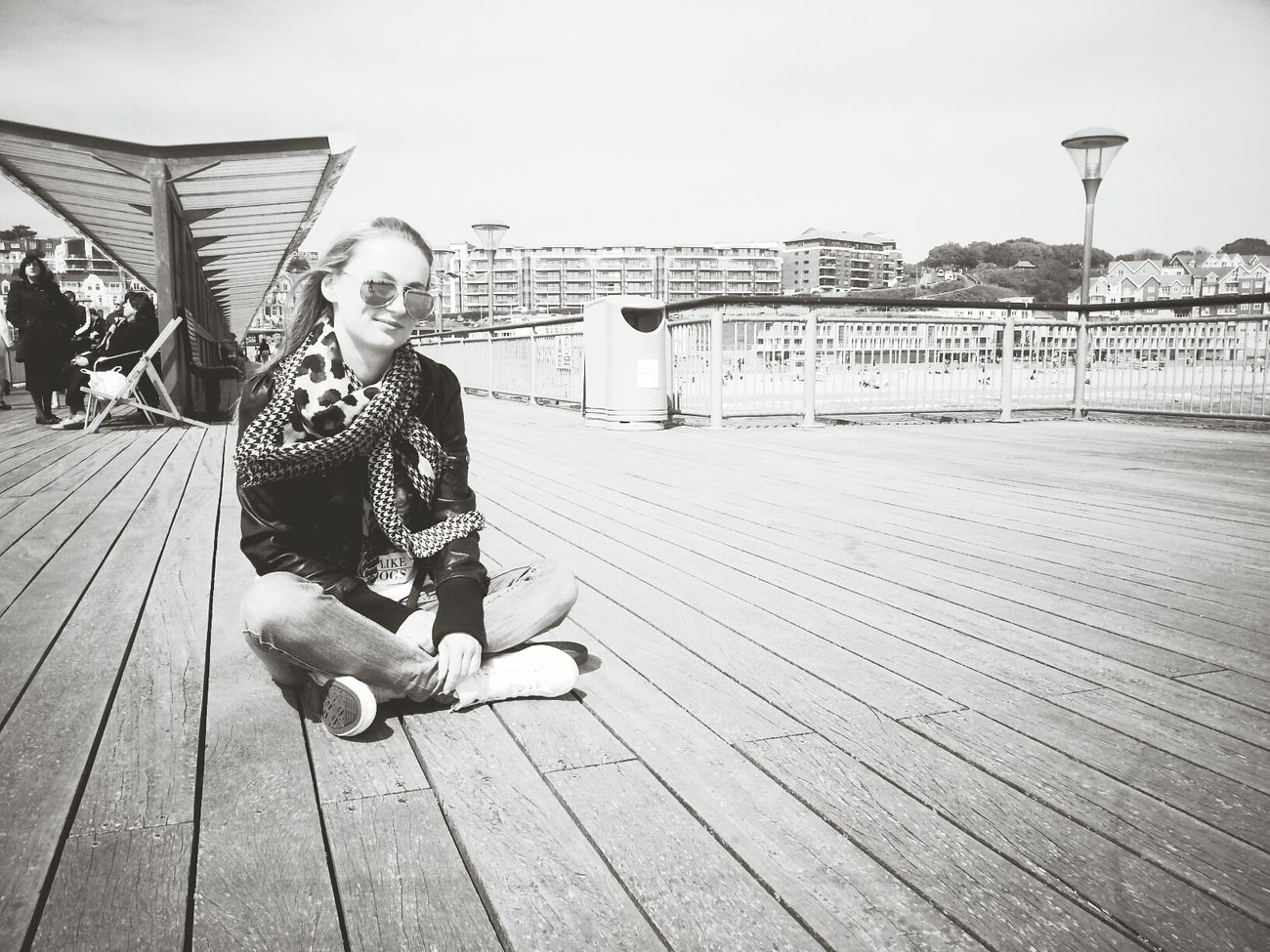 Boscombe Pier  Enjoying Life Hello World Capa Filter