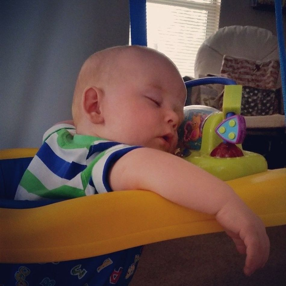 Somebody bounced a lil' too hard this morning Bouncingbabies Naptime