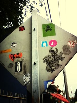 Sticker in Mexico City by Mr Cube Oner