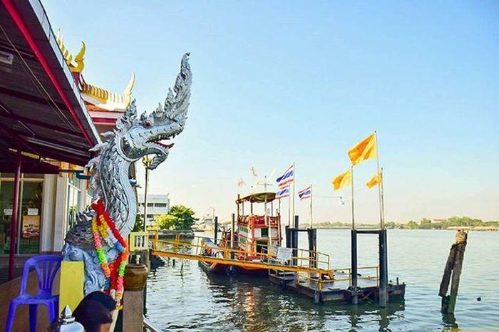 Temple Chaophraya River Landscape Thailand Amazingthailand