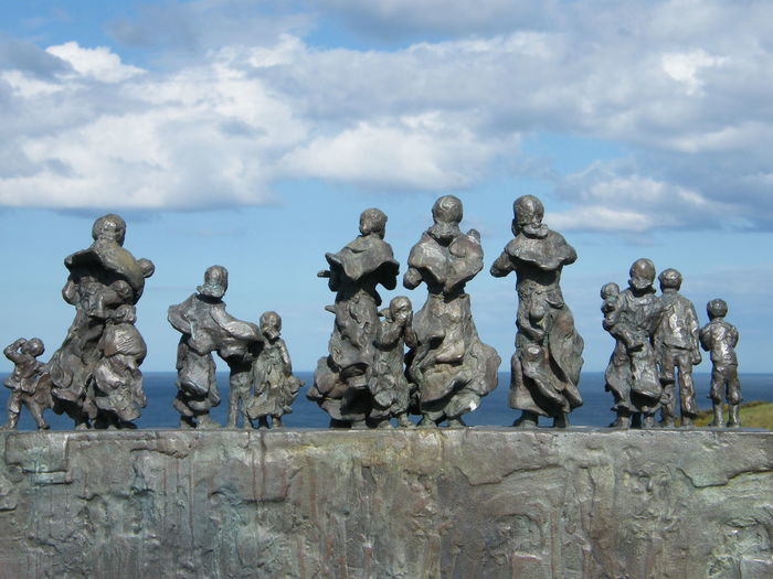 Art And Craft Cloud - Sky Day Human Representation Male Likeness No People Outdoors Sculpture Sky Statue Lost At Sea Monument Lost At Sea Fishing Industry Fishermen's Widows