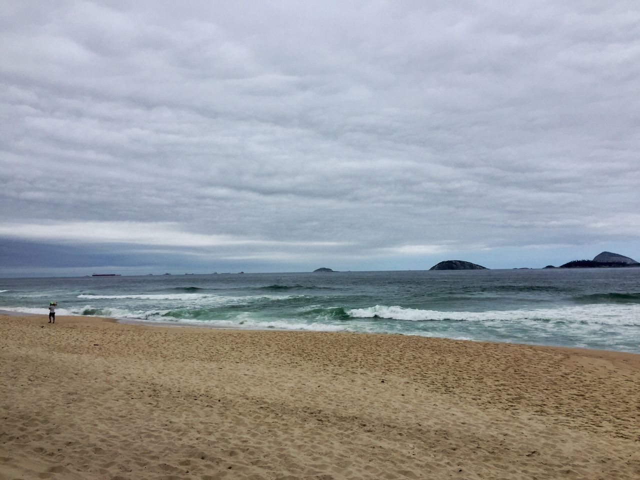 Ipanema Beach Rio De Janeiro Brasil ♥ Sea Beach Horizon Over Water Sky Sand Water Nature Scenics Shore Beauty In Nature Cloud - Sky Tranquility Tranquil Scene Outdoors Day (taked in nov/16/2016) What Who Where