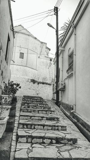 Blackandwhite Churchwall Steps Kyrenia Cyprus Enjoying Life