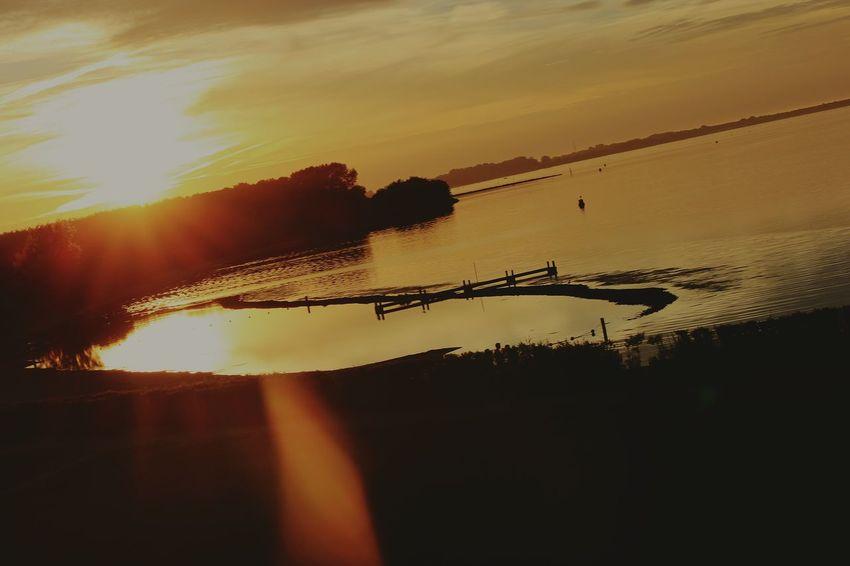 Sun Sky Nature Water River River View Rajna Germany🇩🇪