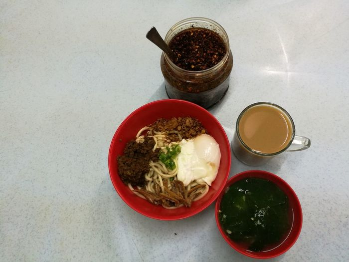High Angle View Tea - Hot Drink Food Indoors  Bfast At Chow Kit