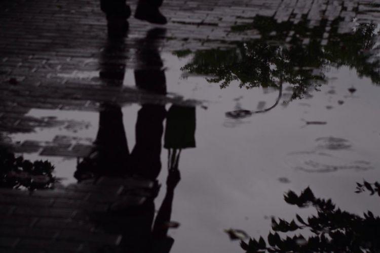 Rainy Day Rainy Days Rain Street Reflections Blackandwhite Black And White Monochrome