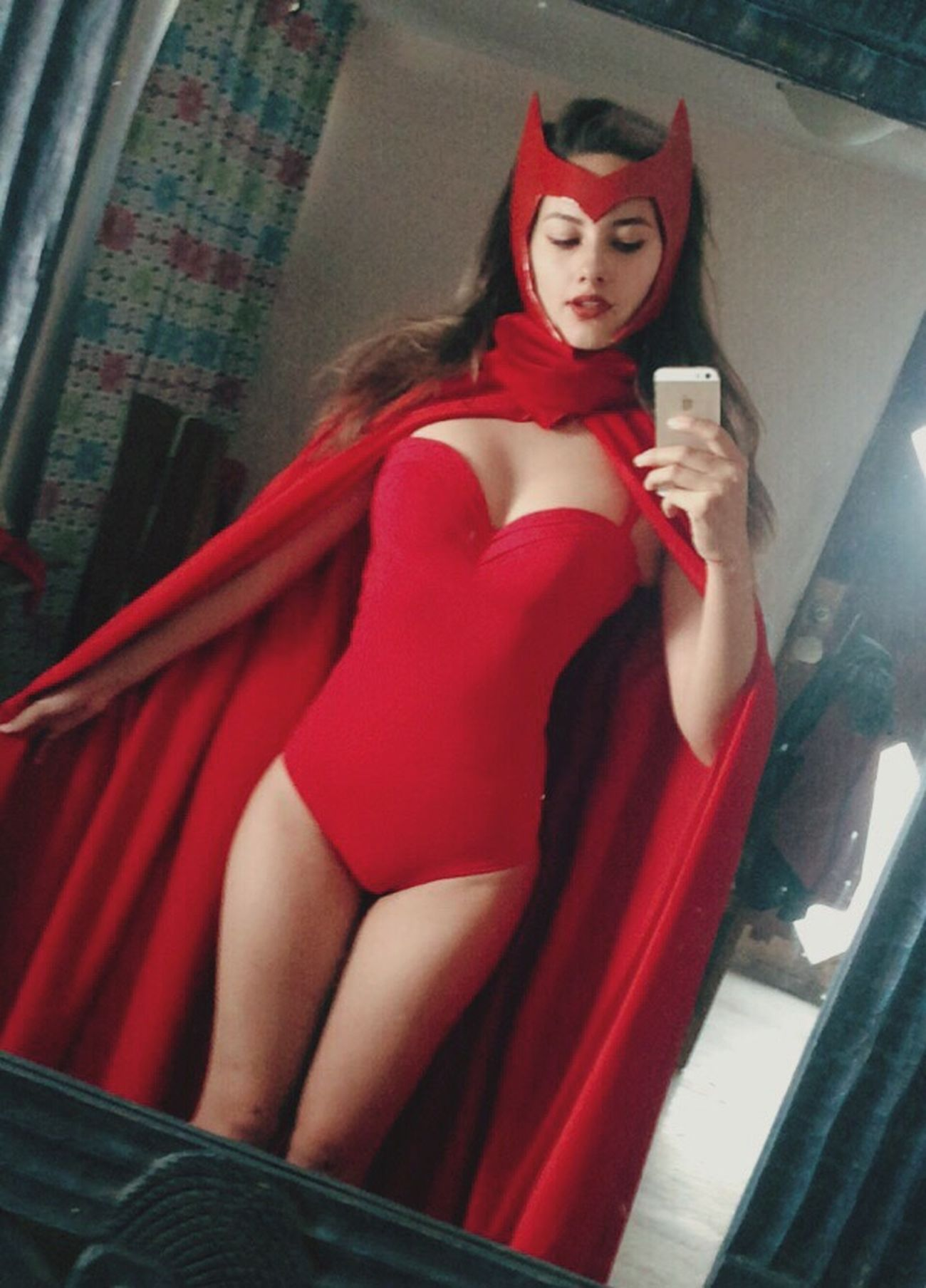 Cosplay Scarlet Witch Red Dreaming Selfportrait Selfie ✌