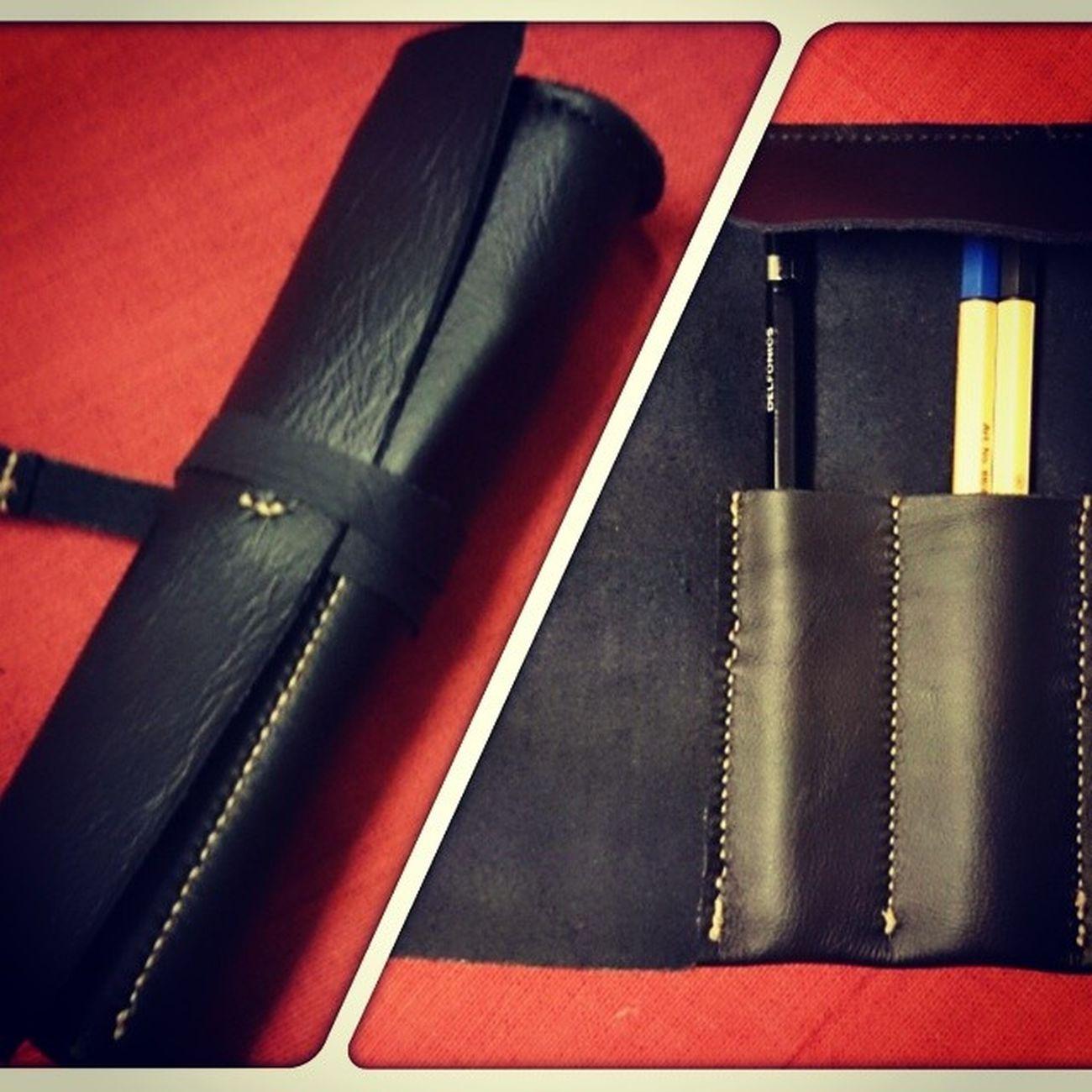 Pen Case Leather Pencase Handmade Craft