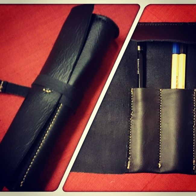 Pen Case Leather Pencase Handmade Craft