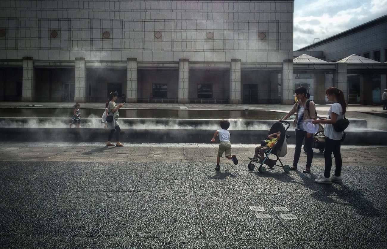 Kids Are Alright by the Fountain