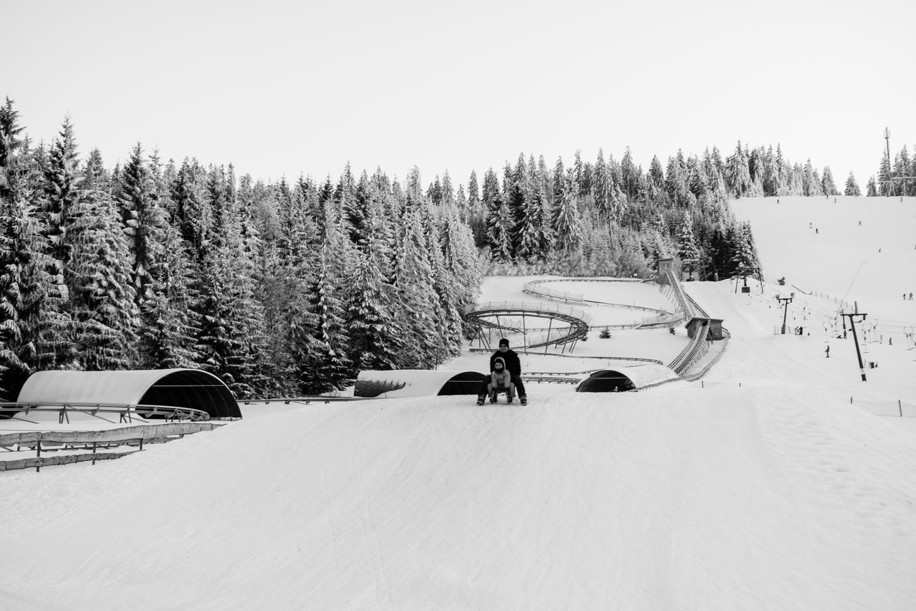 Have a lot fun Beauty In Nature Blackandwhite Boy Camera Cold Temperature Covering Day Family Fun Germany Man Mehliskopf Nature Outdoors Photography Samsungphotography Scenics Sky Sledge Snow Transportation Tree Weather Winter