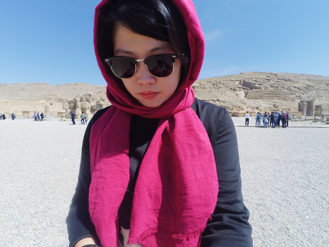 Persepolis in Shiraz, Iran, the world heritage site Sunglasses One Person Portrait People Sunlight Day Outdoors Real People Architecture Sun Irantravel Persepolis Shiraz, Iran Iranpics Worldheritage Worldheritagesite Worldheritagesites Hotsunnyday