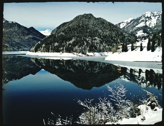 Reflection Water Reflections Sauris Mountains