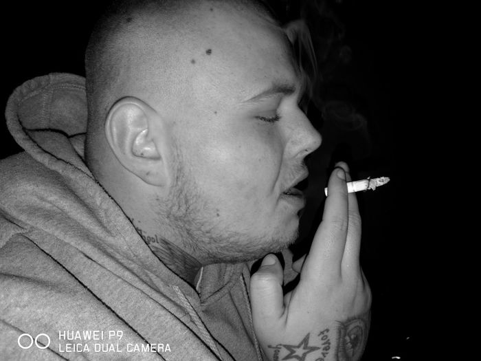 Smoke People Human Hand Day Lifestyles Smoke - Physical Structure Young Adult Tattoo Brother Friend Monochrome_life