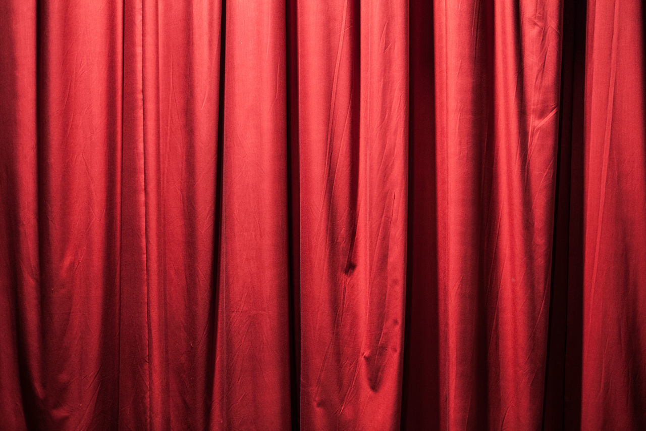 Red curtains Arts Culture And Entertainment Backgrounds Curtain Day Film Industry Indoors  Movie Theater No People Performance Performing Arts Event Red Stage - Performance Space Stage Theater Textile Textured  Theatre Theatrical Performance