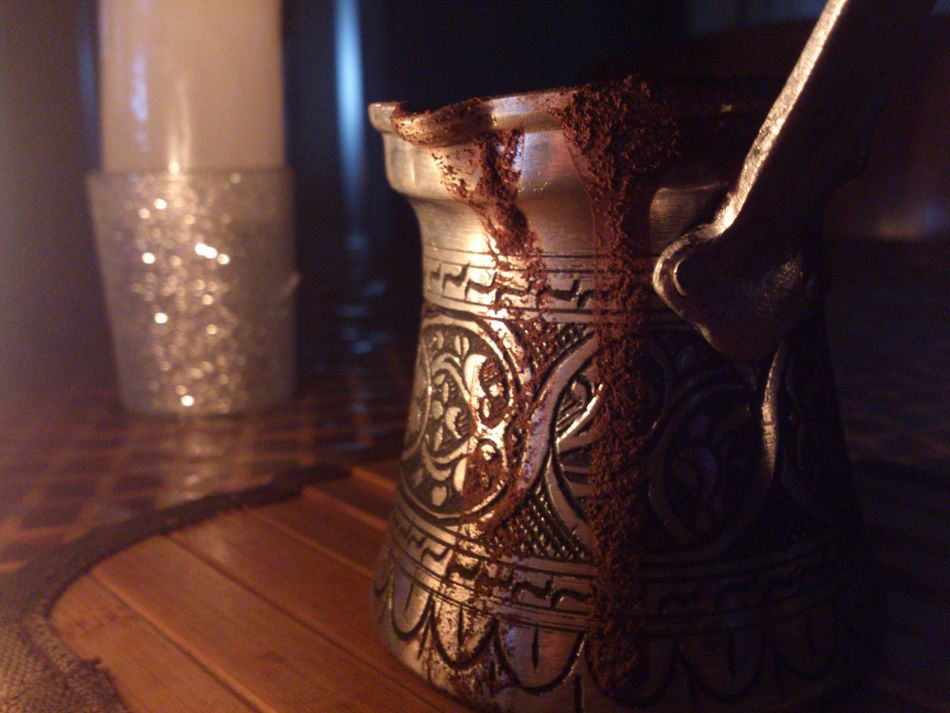 We always make mistakes, even with our favourite things. Turkish Coffee during a Blackout.