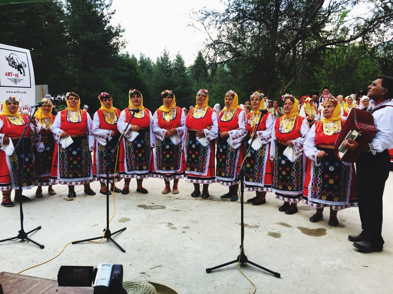 Koprivshtica Costumes Tradition Costume Folklore Bulgarian Traditions Bulgarian Costumes Bulgaria Bulgarian Folklore Full Length Large Group Of People Women Outdoors Real People People Uniform Adults Only Adult Teamwork Day Sports Uniform