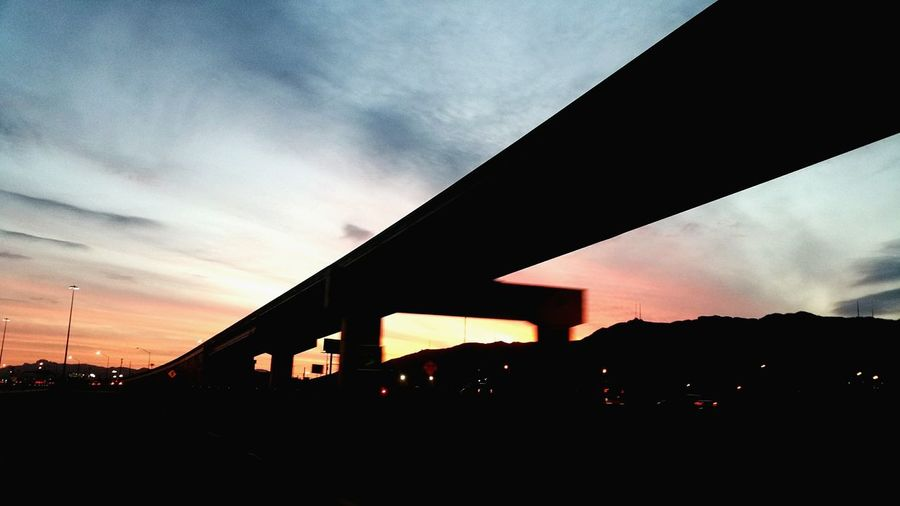 My Year My View Sunset Sky Bridge - Man Made Structure Outdoors Architecture No People Nature Day Cloud - Sky Sunday, Sky, Sun, Clouds Driving Beauty In Nature Sunset Night Illuminated Welcome To Black