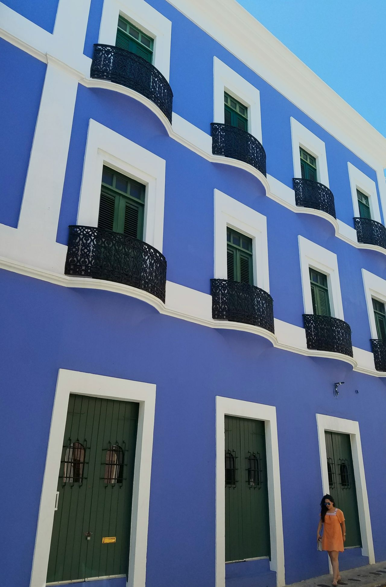 Color Block Minimalism Popular Simple Elegance Perspective Architecture The Architect - 2017 EyeEm Awards Minimalist Architecture The Street Photographer - 2017 EyeEm Awards Urban Landscape Light And Shadow Lines And Angles San Juan PR Colors Of My City Architectural Detail Built Structure City Landscape Urban Exploration Blue BYOPaper!