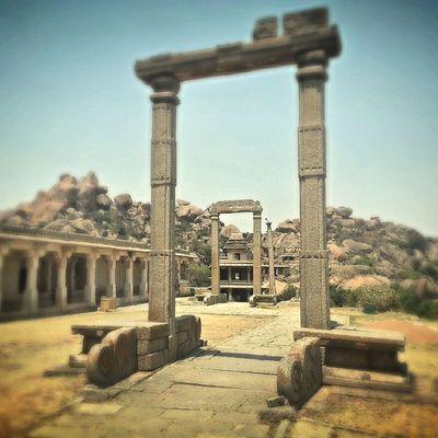 The ruins of Chitradurga fort..