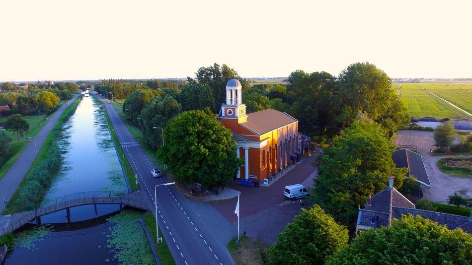 Landscape Netherlands Tourism Outdoors Day Water Nature Schipluiden Kerk Church