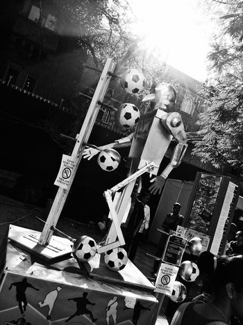 No People Day Smartphonephotography Blackandwhite Kalaghoda Festival ArtWork Art Outdoors MyClick Football Robot The Great Outdoors - 2017 EyeEm Awards Black And White Friday