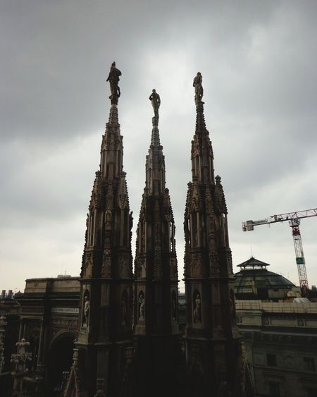 Architecture Cloud - Sky Travel Destinations Built Structure Outdoors Religion Building Exterior Sky Three Objects in Duomo Milano Italy