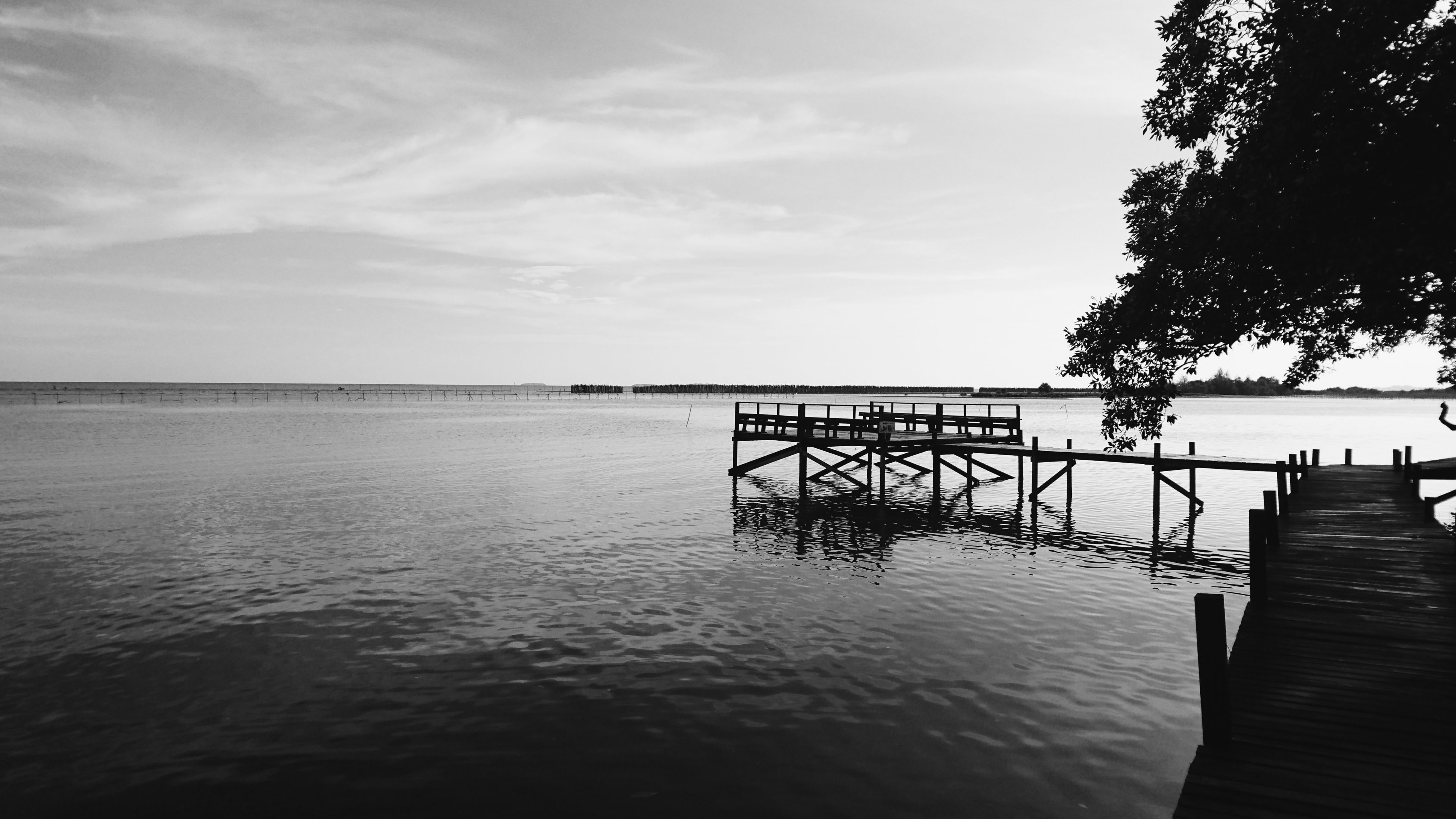 water, sky, nature, sea, cloud - sky, beauty in nature, tranquility, no people, scenics, tranquil scene, outdoors, day, horizon over water, tree, architecture