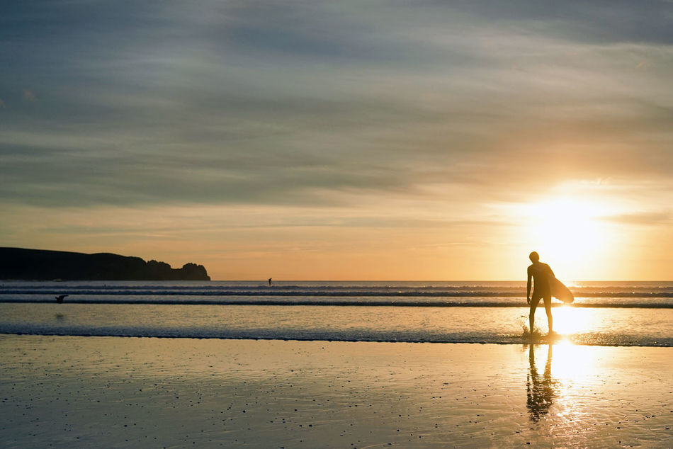 Beach France Happy Happy People Happy Time Horizon Over Water Nature Ocean Ocean View Oceanside Outdoors Sand Sea Sky Sun Sunlight Sunny Sunrise Sunset Sunset Silhouettes Sunset_collection Sunshine Surf Surface Level Surfing