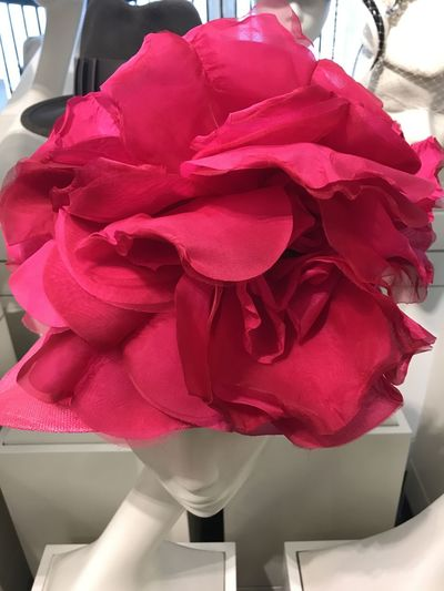 Hat more like a flower! Composition GB London Unusual Capital City Clothing Costume Dummy Female's Hat Flower Flower Head Fragility Full Frame Harrods Hat Stand Indoor Photography Looks Like A Flower No People Petal Red Colour Red Rose Rose - Flower Rose Petals Uk Unusual Beauty