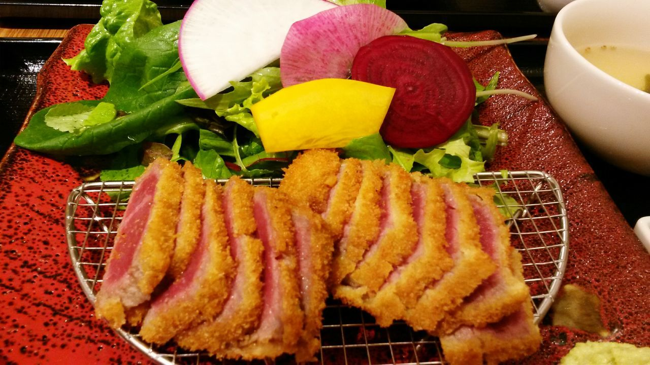 牛肉 牛カツ Gyukatsu Japan Japanese Food Japanese  Japanese Beef Beef Dinner Dinner Time Shinjuku Gabukicho Salad