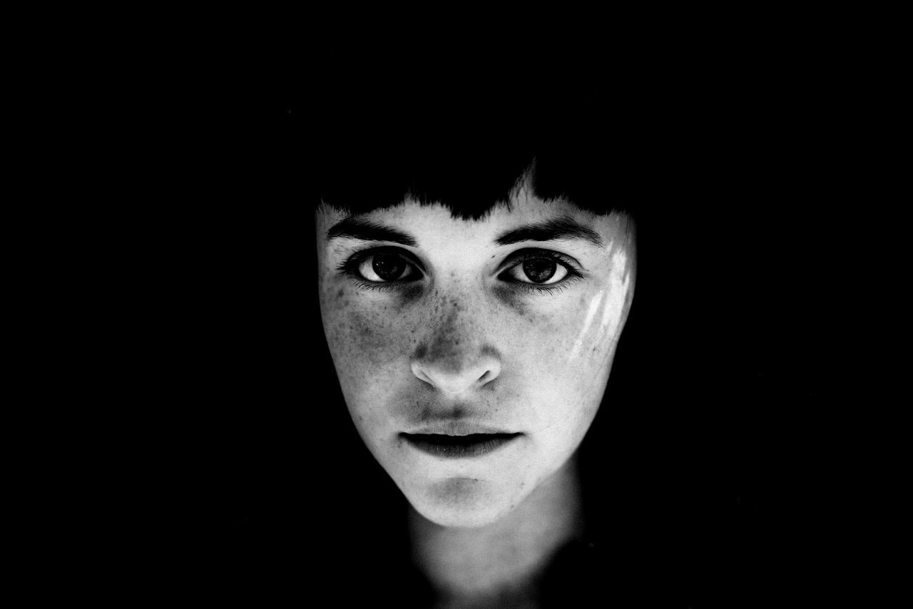Adult Adults Only Beautiful Woman Black Background Close-up Day Headshot Human Body Part Looking At Camera One Person One Woman Only One Young Woman Only Only Women People Portrait Young Adult The Portraitist - 2017 EyeEm Awards