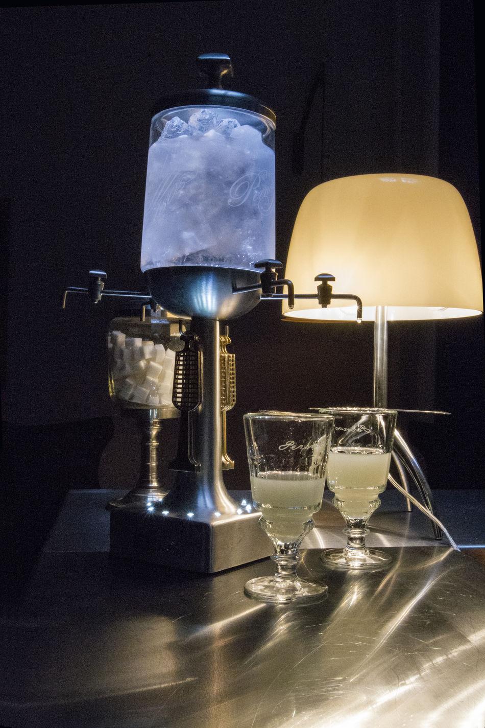 Absinth Alcool  Bar Byrrh, Thuir, Art Close-up Drink Indoors  Martini Glass No People Refreshment Restaurant Shiny Table