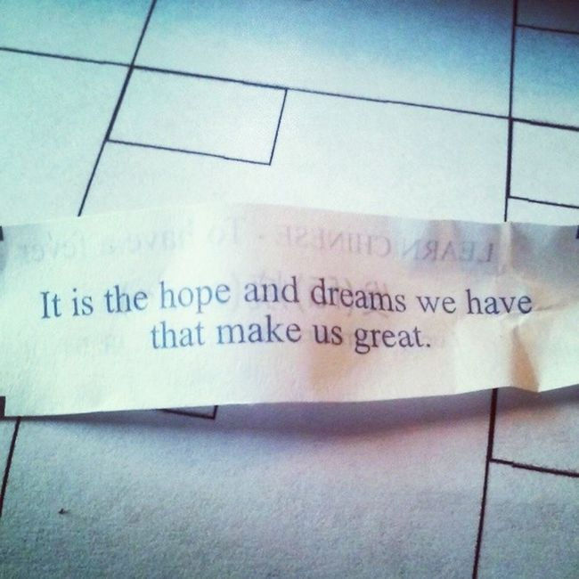 Instapic Fortunecookie Hope Dreams keepitalive ☺