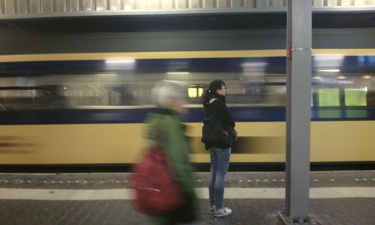 Train Station Public Transportation Movement Multiple Layers My Daily Commute