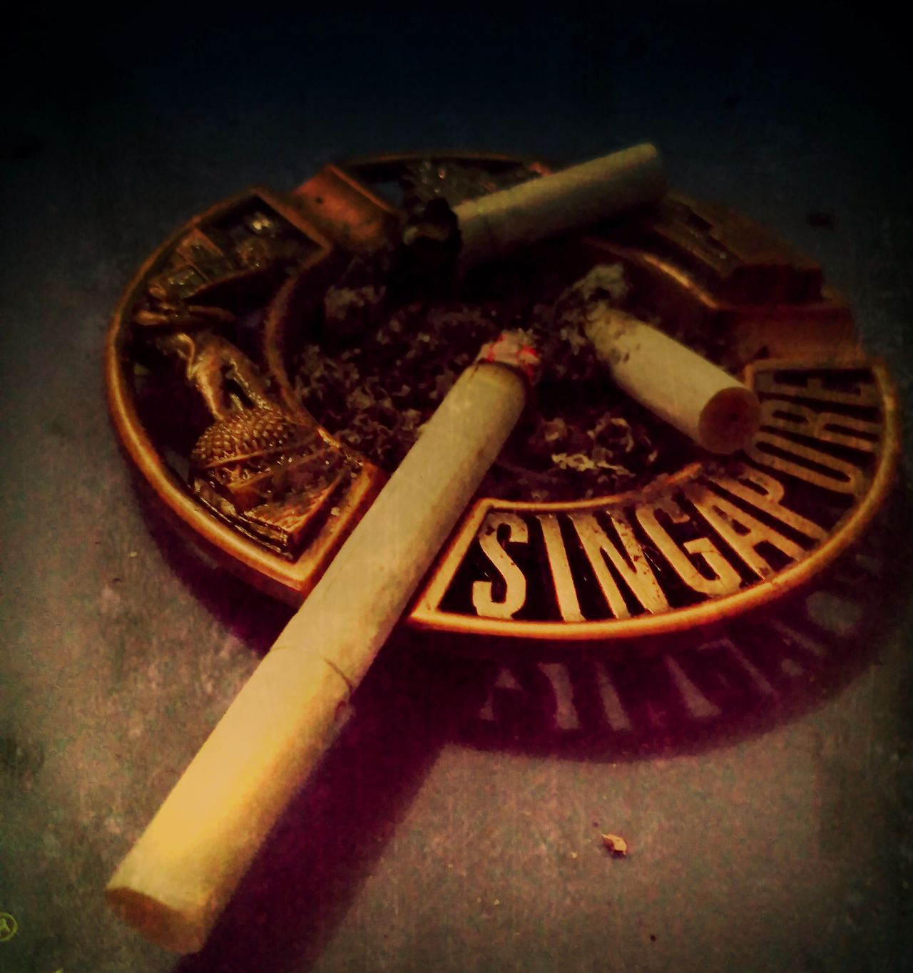 Smoking kills Cigarettes Kill Ashtray  People Common Addict First Eyeem Photo