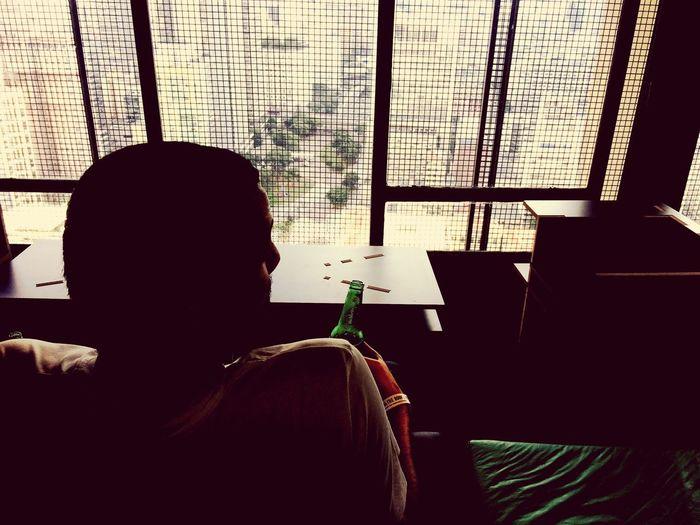 Sao Paulo - Brazil Lifestyles Men Drink Beer Heineken Up On The Roof