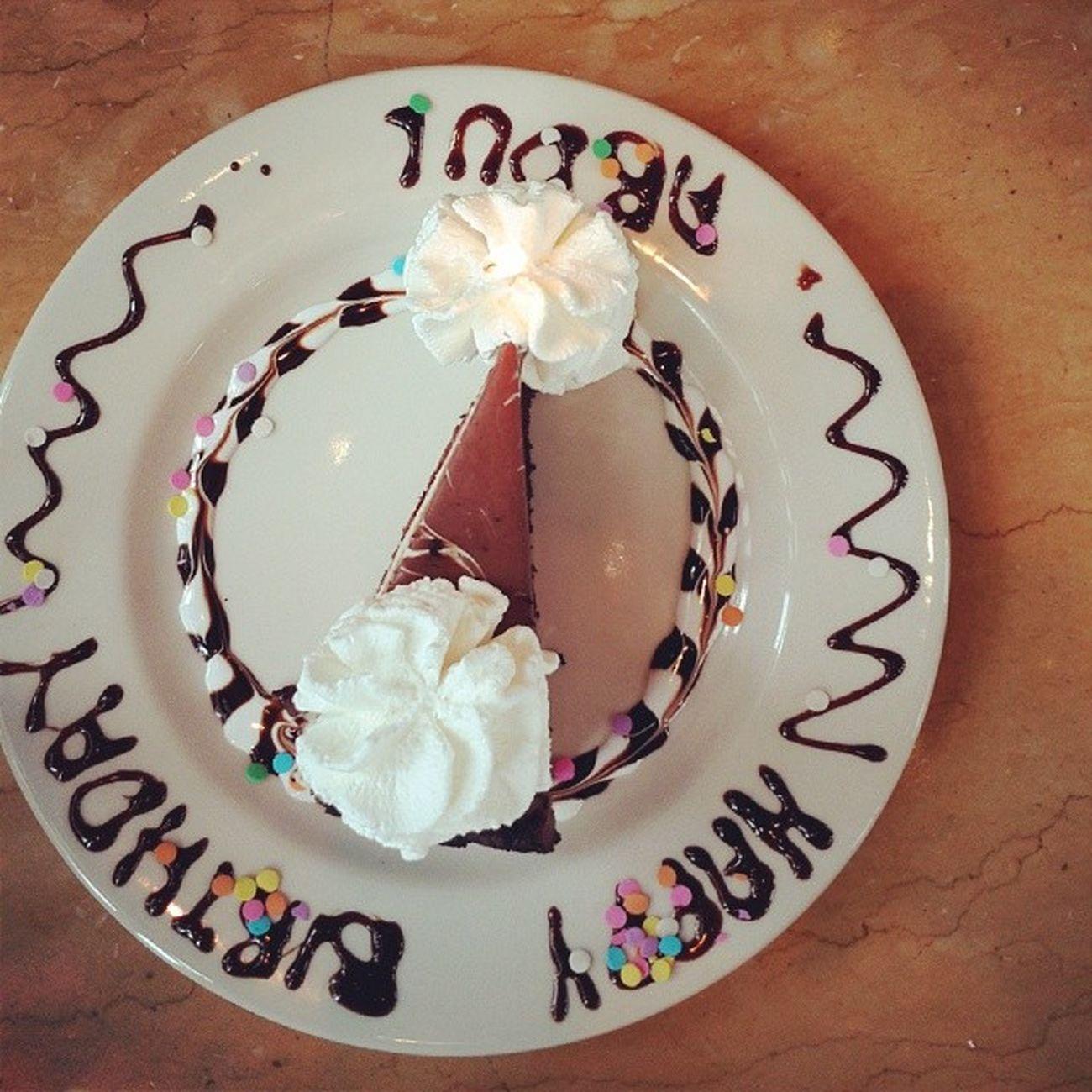 Happy Birthday Bro Cake cheesecakefactory cheese _cake cleveland ohio oh euclid us usa كليفلايند اوهايو امريكا عدستي يومياتي المصورون_العرب تصويري ذكريات مبتعث احتراف food