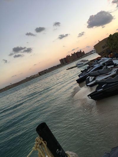 Egypt Marina Beach Beauty In Nature Clouds Jetski Northcoast Portomarina Sand Sea Sky Summer Sunset