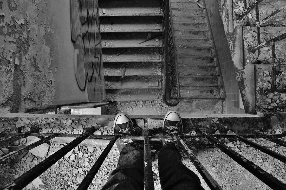 Altstadt Berlin Chucks Fabrik Oben Old Ruined Treppe Urban