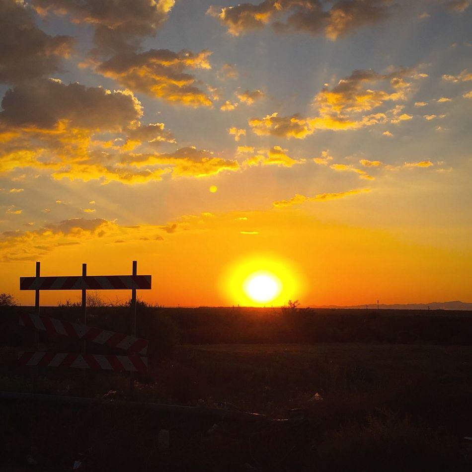Do not enter the sunrise! Sunrise Do Not Enter Off Limits Desert Desert Beauty