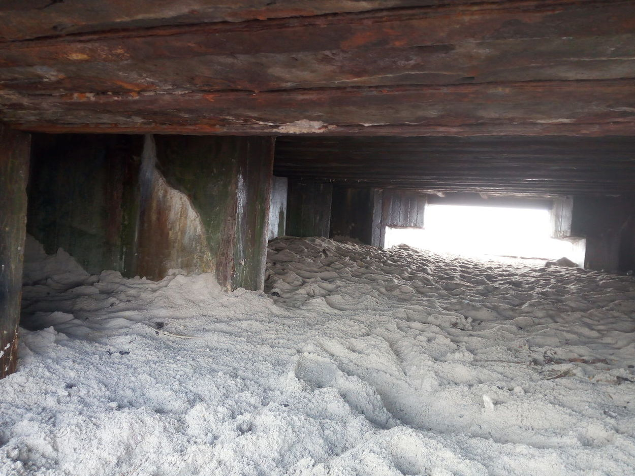 Alte Bunker Dänemark Blick Sand Hoffnung Niemals