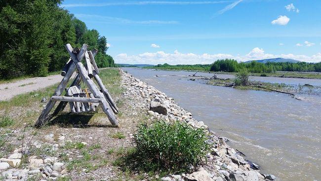 Swings Snake River Wyoming Solitude Wood Swing Rustic Swing Middle Of Nowhere